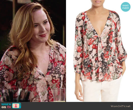 Joie Lourve Blouse worn by Mariah Copeland (Camryn Grimes) on The Young & the Restless