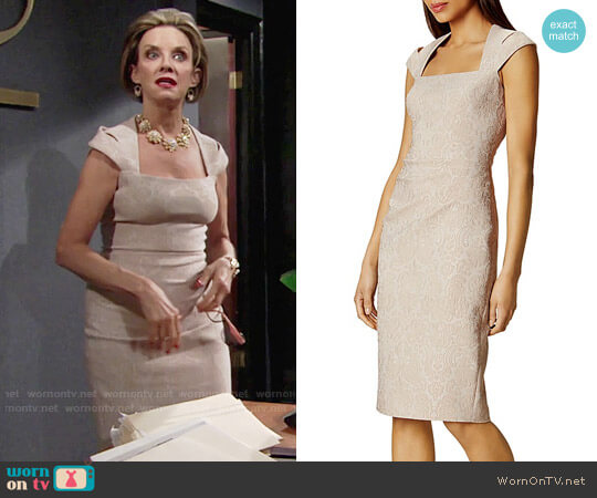 Karen Millen Jacquard Sheath Dress worn by Judith Chapman on The Young & the Restless