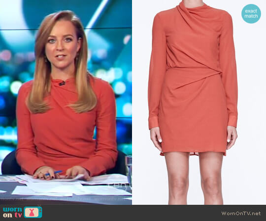 Unbroken Mile Dress with Life with Bird worn by Carrie Bickmore on The Project