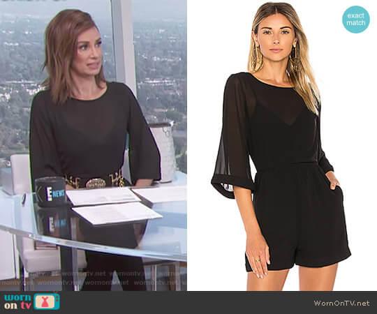 Celeste Romper by Line and Dot worn by Catt Sadler  on E! News