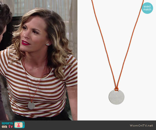 Madewell Cymbal Beaded Necklace worn by Melissa Claire Egan on The Young & the Restless