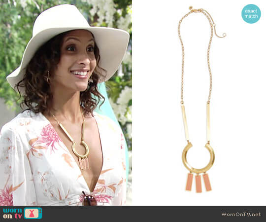 Madewell Ring Statement Necklace worn by Lily Winters on The Young & the Restless