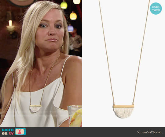 Madewell Dreamkeeper Fringe Necklace worn by Sharon Case on The Young & the Restless