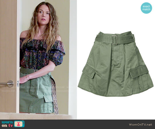 Marc Jacobs Military Skirt worn by Liza Miller on Younger