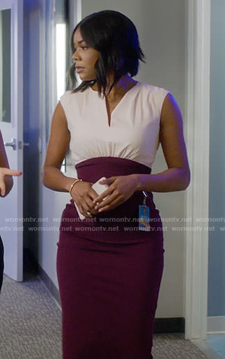 Mary Jane's purple high waisted dress on Being Mary Jane