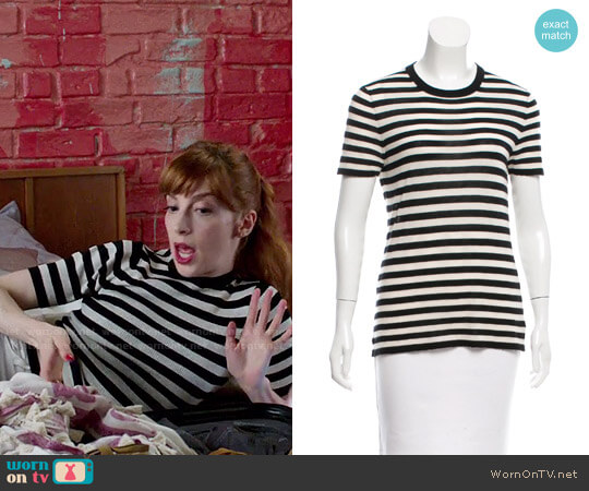 Michael Kors Cashmere Striped Sweater worn by Molly Bernard on Younger