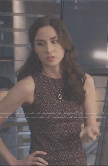 Camille's leather crystal necklace on Stitchers