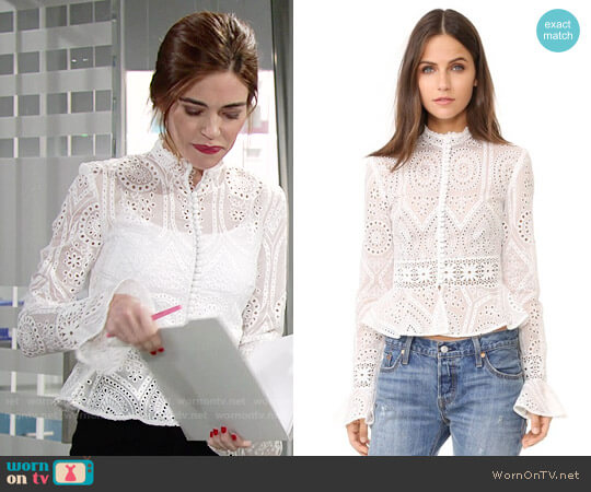 Nicholas Vintage Organdy Top worn by Amelia Heinle on The Young & the Restless