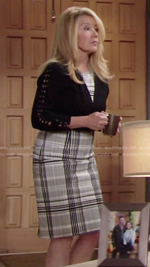 Nikki's plaid dress on The Young and the Restless