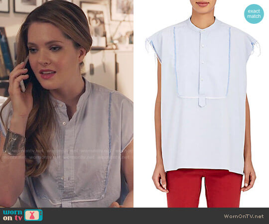 Nili Lotan Elise Top worn by Meghann Fahy on The Bold Type