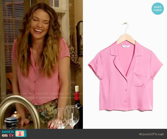 & Other Stories Relaxed Fit Retro Shirt worn by Sutton Foster on Younger