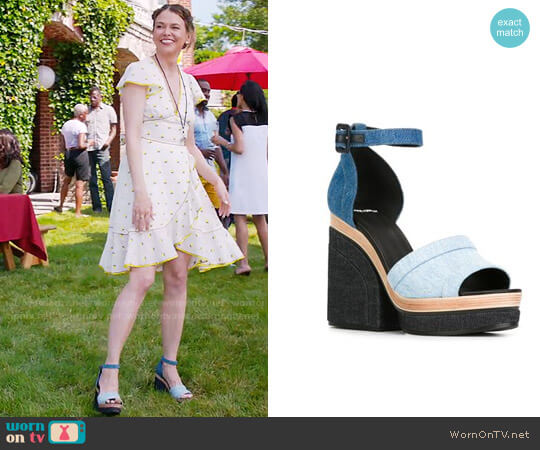 Pierre Hardy Charlotte Sandals worn by Sutton Foster on Younger