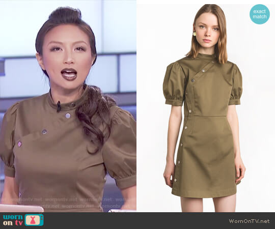 Olive Snap Button Dress by Pixie Market worn by Jeannie Mai on The Real