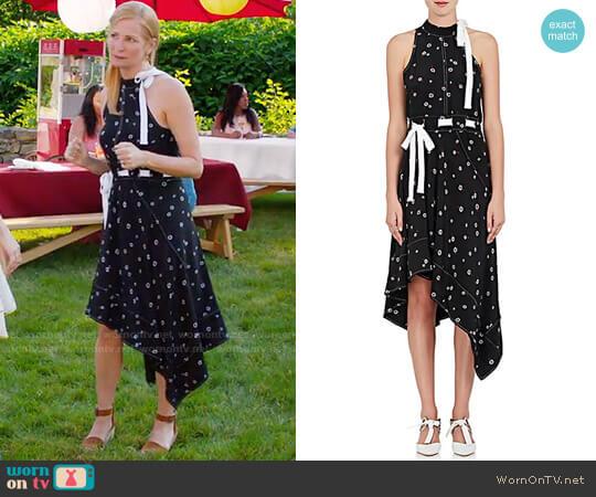 Proenza Schouler Silk Crêpe De Chine Asymmetric Dress worn by Pauline on Younger worn by Jennifer Westfeldt on Younger