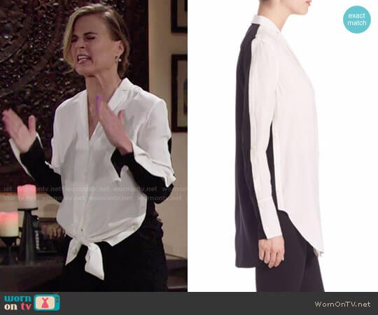 Rag & Bone Leighton Shirt worn by Gina Tognoni on The Young & the Restless