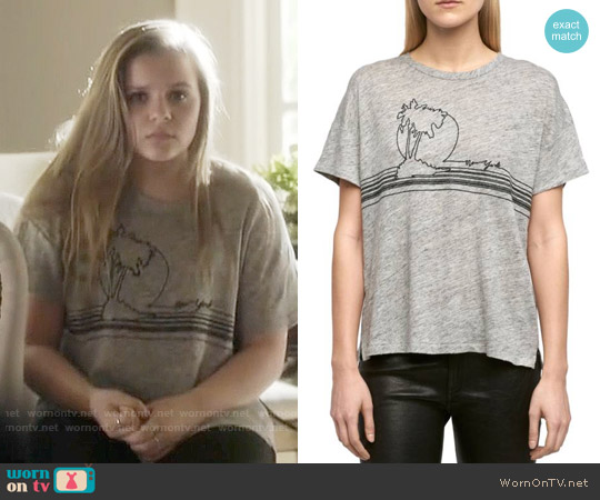 Rag & Bone Palm Embroidered Linen Tee worn by Maisy Stella on Nashville
