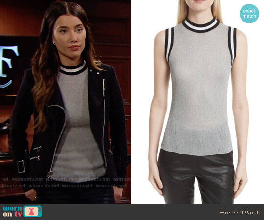 Rag & Bone Priya Tank worn by Jacqueline MacInnes Wood on The Bold & the Beautiful