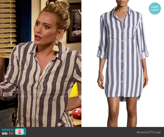 Rails Julian Stripe Dress worn by Hilary Duff on Younger