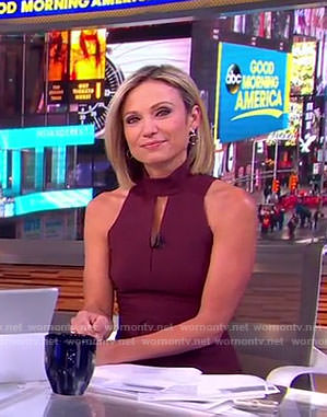Amy's red keyhole dress on Good Morning America