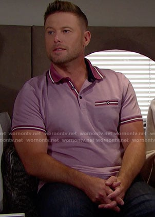 Rick's pink polo shirt on The Bold and the Beautiful