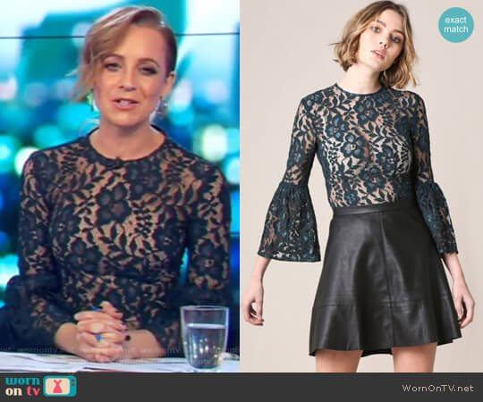 Hartford Lace Top by Rodeo Show worn by Carrie Bickmore on The Project