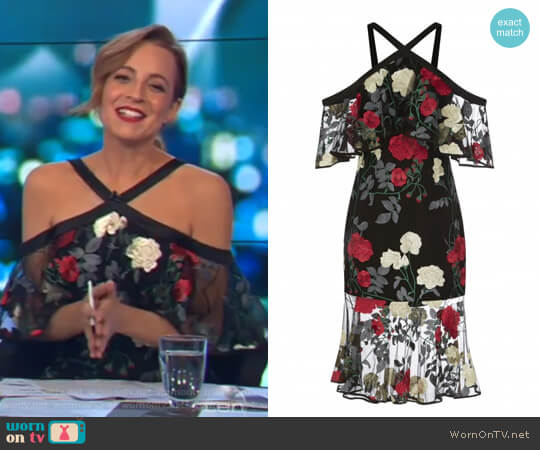 Yena Lace Dress by Rodeo Show worn by Carrie Bickmore on The Project