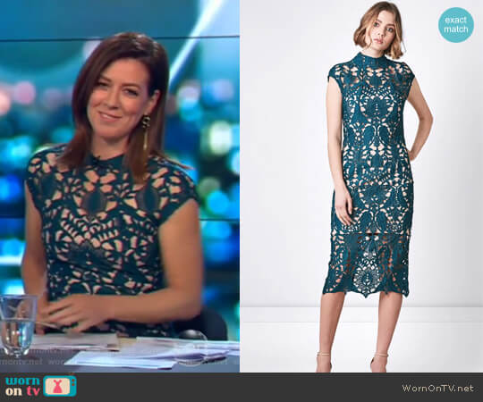 Zara Sheath Dress by Rodeo Show worn by Gorgi Coghlan on The Project
