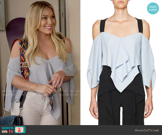 Roland Mouret Zigzag Handkerchief-Hem Top worn by Kelsey Peters (Hilary Duff) on Younger