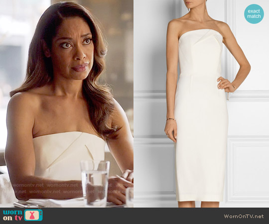 Roland Mouret Electra Dress worn by Jessica Pearson (Gina Torres) on Suits
