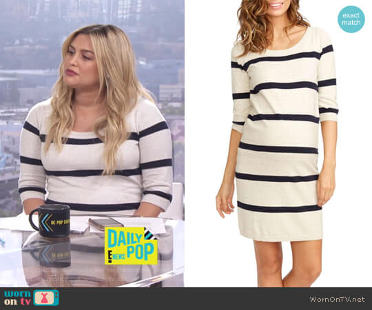 Harper Stripe Maternity Sweater Dress by Rosie Pope worn by Carissa Loethen Culiner  on E! News