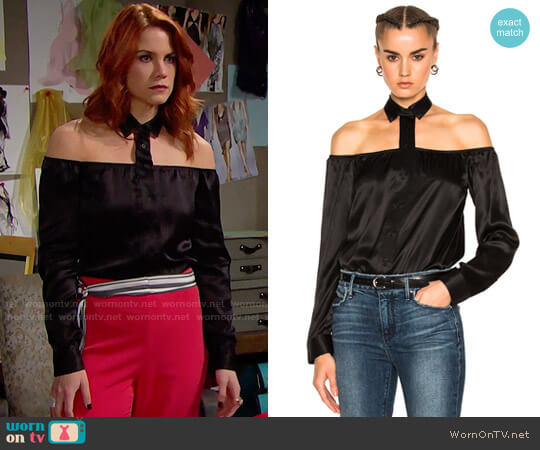 RTA Frankie Shirt worn by Courtney Hope on The Bold & the Beautiful