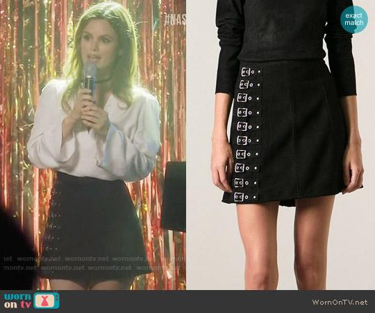 Saint Laurent A-Line Buckle Skirt worn by Alyssa Greene on Nashville