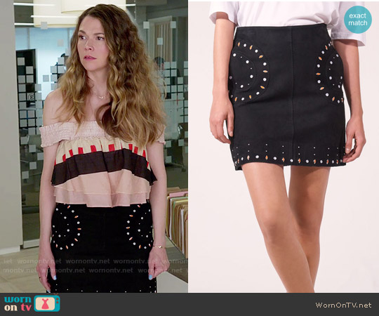Sandro Colorado Skirt worn by Liza Miller on Younger