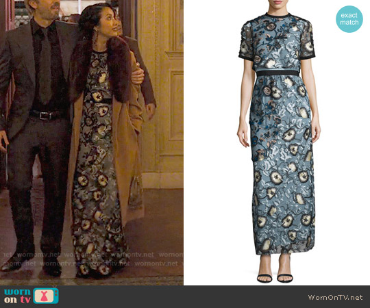 Self Portrait Florentine Dress worn by Jae Suh Park on Friends from College