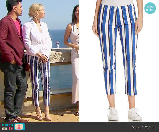 St. Emile Cyrill II Cabana Striped Pants worn by Katherine Kelly Lang on The Bold & the Beautiful