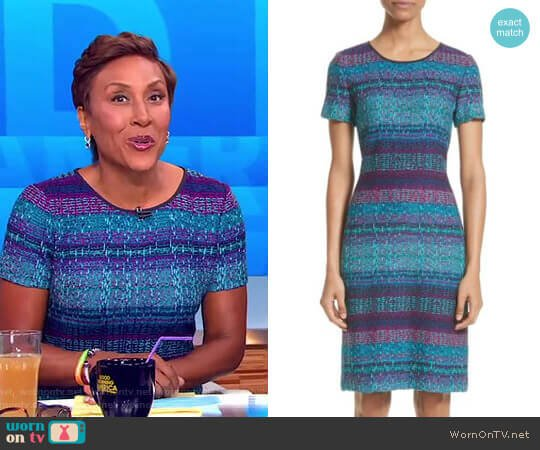 Ellah Dress by St. John Collection worn by Robin Roberts on Good Morning America