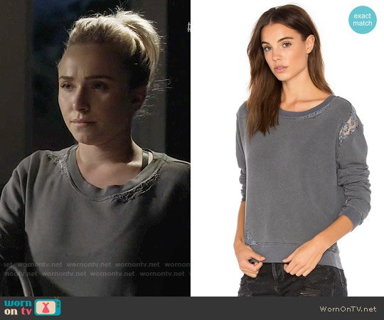 Stateside French Terry Sweatshirt with Lace worn by Hayden Panettiere on Nashville