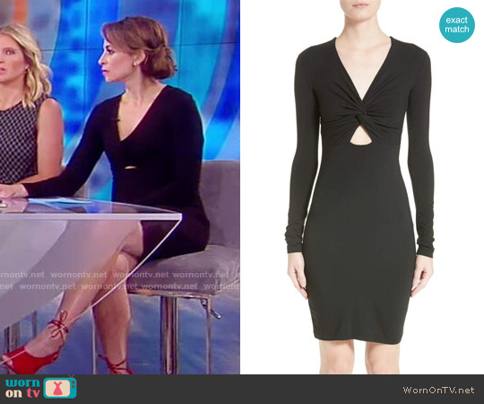 T by Alexander Wang Twist Front Body-Con Dress worn by Jedediah Bila  on The View