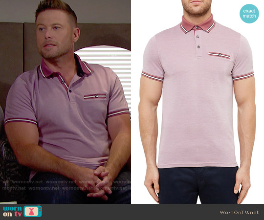 Ted Baker Doug Polo Shirt worn by Jacob Young on The Bold & the Beautiful