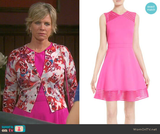 Ted Baker Pink Eleese Dress worn by Kayla Brady (Mary Beth Evans) on Days of our Lives
