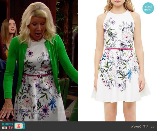 Ted Baker Passion Flower Skater Dress worn by Alley Mills on The Bold & the Beautiful