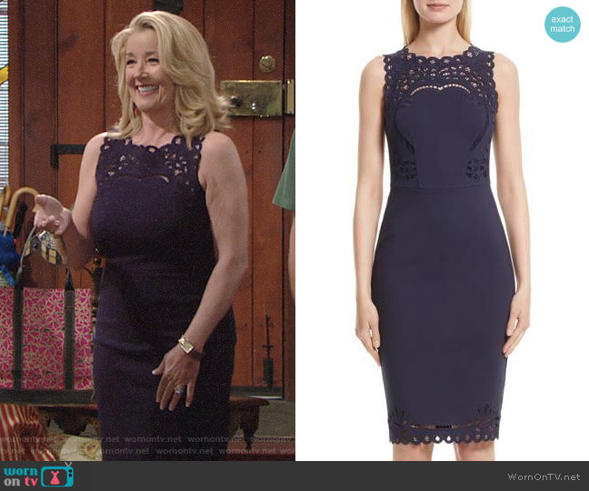 Ted Baker Verita Dress worn by Melody Thomas-Scott on The Young & the Restless