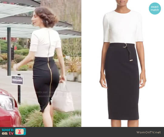 Ted Baker Wandee Dress worn by Necar Zadegan on GG2D