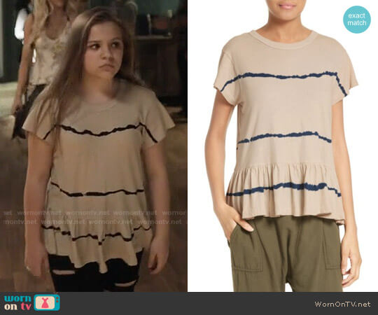 The Great Tie Dye Ruffle Tee worn by Daphne Conrad (Maisy Stella) on Nashville