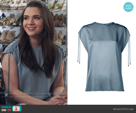 Theory Malkara Top worn by Jane Sloan (Katie Stevens) on The Bold Type