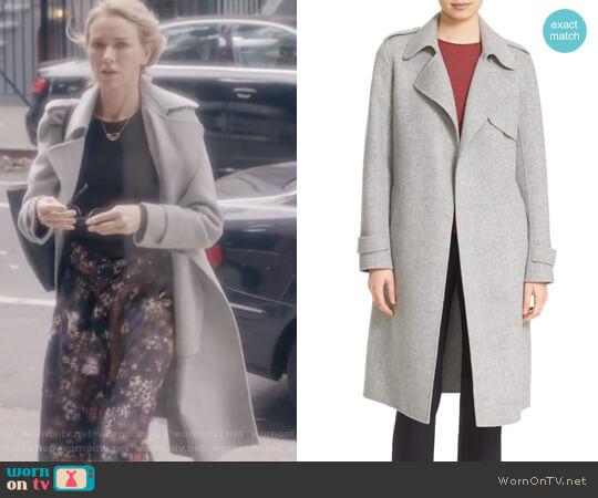 Oaklane DF New Divid Wool & Cashmere Trench Coat by Theory worn by Naomi Watts  on Gypsy