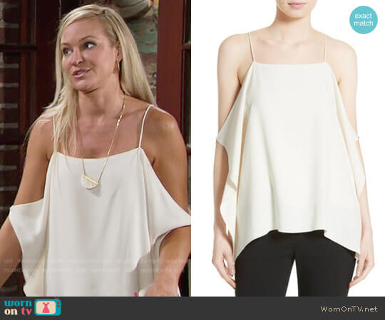 Theory Petteri Top worn by Sharon Case on The Young & the Restless
