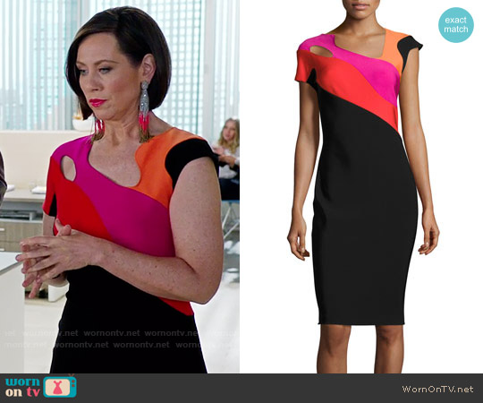 Thierry Mugler Colour Block Pencil Dress worn by Diana Trout (Miriam Shor) on Younger