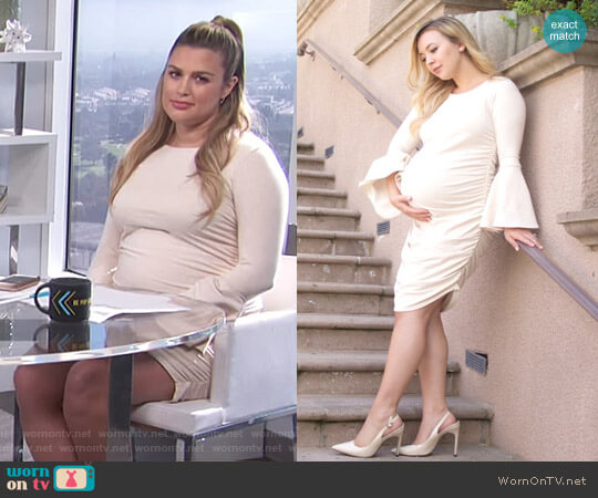 The Delancey Dress by Tiff Marie Maternity worn by Carissa Loethen Culiner (Carissa Loethen Culiner) on E! News