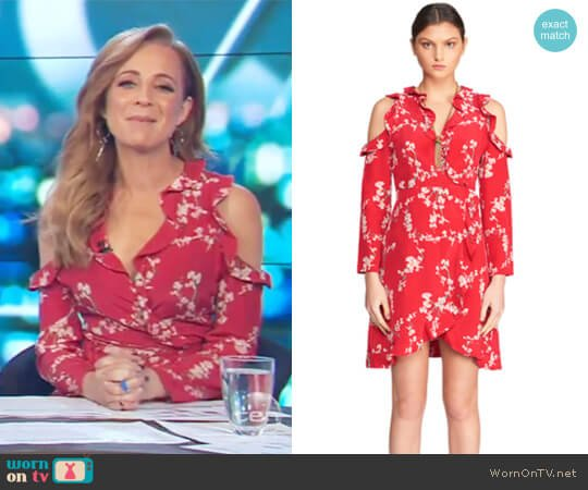 First Bloom Mini Dress by Torannce worn by Carrie Bickmore  on The Project